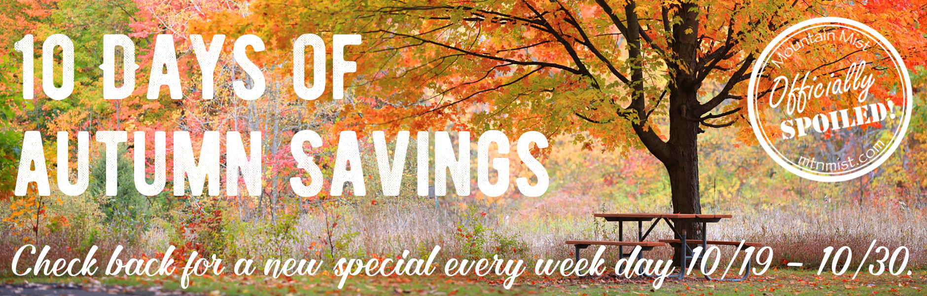 10 Days of Autumn Savings