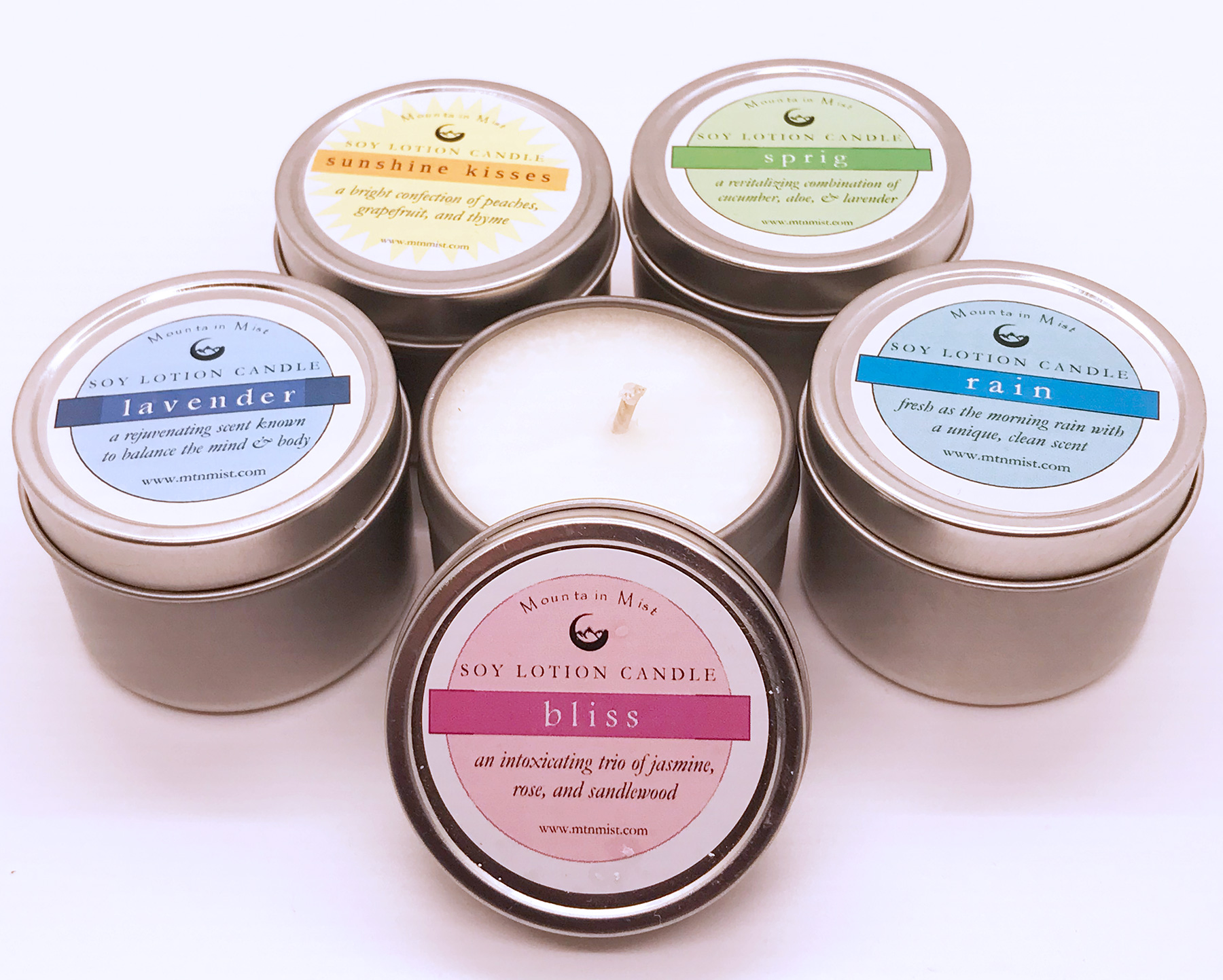Mini Soy Lotion Candle Set