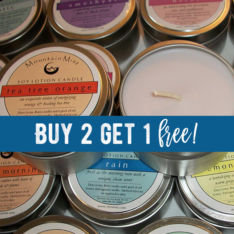 B2G1 Soy Lotion Candles